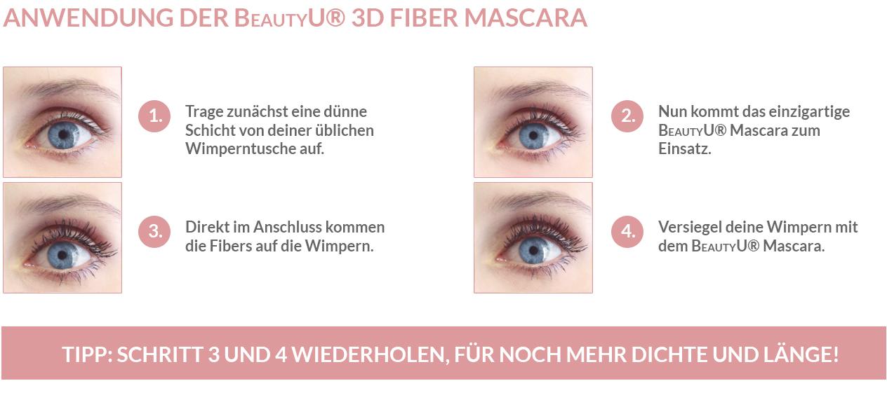 Wie die 3D Fiber Mascara funktioniert
